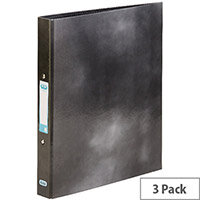 Elba Classy Ring Binder A4 Black 3 FOR 2 (Pack 2 + 1) BX810404