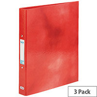 Elba Classy Ring Binder A4 Red 3 FOR 2 (Pack 2 + 1) BX810406