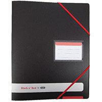 Black n Red A4 Plus Ring Binder 16mm Pack of 2 BX810414