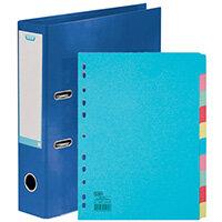 Elba Classy 70mm Lever Arch File A4 Blue FOC 10/Pt Divider