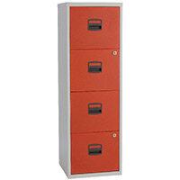 Bisley A4 Homefiler 4 Drawer Grey Red BY78730