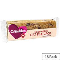 Mrs Crimbles Gluten Free Mixed Berry Oat Flapjack 65g Pack of 18 A08029