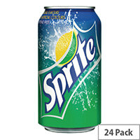 Sprite Lemon Soft Drink Cans 330ml Pack of 24 A00722