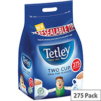 Tetley Two Cup Tea Bags Pack of 275 A07965