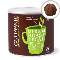 Clipper Fairtrade Organic Decaffeinated Instant Coffee Tin 500g Pack of 1 A06746