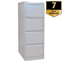 Bisley 4 Drawer Filing Cabinet Silver BS4E