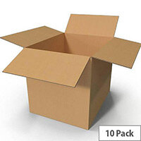 Packing Cardboard Boxes 457x305x248mm Buff (Pack 10)