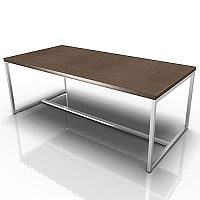 Rectangular Reception Coffee Table Canaletto Walnut