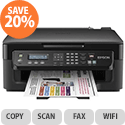 Epson WorkForce WF-2510WF Multifunction Inkjet Printer Fax Wireless