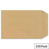 New Guardian Pocket Envelopes 254x178mm 130gsm Peel and Seal Easy Open Manilla Pack of 250