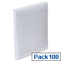 Plus Fabric C4 Gusset Envelopes White Window Peel and Seal 25mm Pack 100