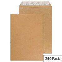 Q Connect Envelope C4 80gsm Manilla Gummed (Pack of 250)