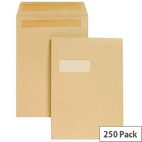 New Guardian Envelopes C4 Manilla Pocket Peel and Seal (Pack of 25)