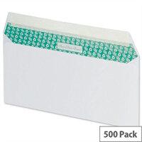 Basildon Bond DL Envelopes Peel and Seal White 100gsm Wallet Pack of 500