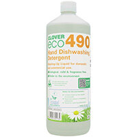 Clover ECO 490 Dishwashing Detergent 1 Litre Pack of 12 490