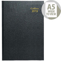 Collins 2018 Black A5 Week to View Desk Diary 35