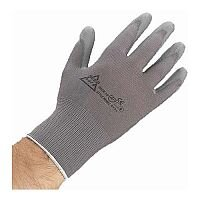PU Coated Nylon Gloves One Size 1 Pair Grey
