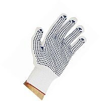 Polyester Pick & Go Polka Dot Gloves White Pair of 1