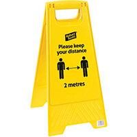 Robert Scott Social Distancing Safety Sign Pack of 5 104366