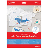 Canon Light Fabric Iron-On Transfers A4 4004C002