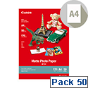 Canon A4 Matte Photo Paper 170gsm (Pack of 50)