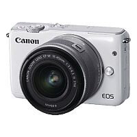 Canon EOS M10 CSC Camera with 15-45mm Lens White 0922C039AA