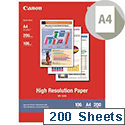 Canon A4 High Resolution Inkjet Printer Paper 106gsm (Pack of 200)