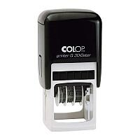 COLOP Printer Q 30 Square Custom Dater Pre-Inked Rubber Stamp Black Ink Black Handle