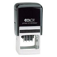 COLOP Printer Q 43 Square Dater Pre-Inked Rubber Stamp Black Ink Black Handle