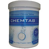 CPD White Chemtab Effervescent Chlorine Tablets Pack of 200