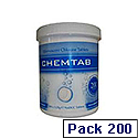 CPD White Chemtab Effervescent Chlorine Tablets (Pack of 200) VCHECT