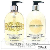Baylis & Harding Mandarin Grapefruit Tray Hand Wash & Hand Lotion Cream Set (Pack 2) VBHBM2BTLMG