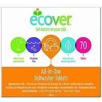 Ecover Dishwash Tablets All in One XL Pack of 70 1002126