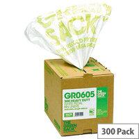 The Green Sack 15L White Pedal/Office Bin Liners in Dispenser Pack 300 VHPGR0605