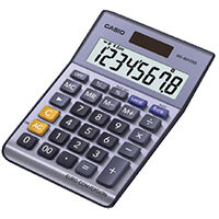 Casio 8-Digit Currency Calculator Silver MS-80VERII