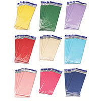 Tissue Paper Assorted Colours C6 Pack of 36 (6480 Sheets in Total) C6