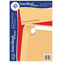 County Stationery C4 10 Manilla Board Envelopes Pack of 10 C525