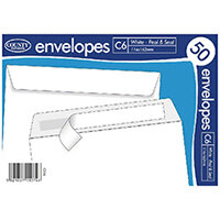 County Stationery C6 White Self Seal Envelopes Pack of 1000 C515