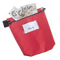 Cash Bag Red Medium Tamper-Evident Zip 267 x 267 x 50mm