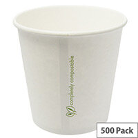 Compostable 24oz/709ml Disposable Container Hot or Cold Treats Ice Creams Soups Pack of 500