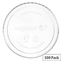 Compostable PLA Clear Lids to Fit 8-32oz Round Deli Containers Pack of 500