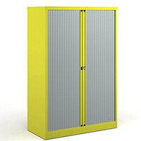 Bisley Systems Storage Medium Tambour Cupboard 1570mm High - Yellow