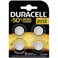 Duracell 2032 Lithium Coin Battery Pack of 4 ECR2032