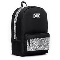 DUC Backpack Doodle Medium School Bag Black 20L