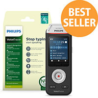 Philips VoiceTracer DVT2810 Digital Voice Recorder with Dragon Speech Recognition Software
