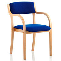 Madrid Boardroom & Visitor Chair Blue With Arms