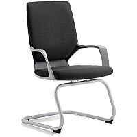 Xenon Boardroom & Visitor Black Chair Black Fabric With Arms