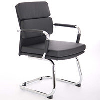 Advocate Boardroom & Visitor Chair Black Bonded Leather With Arms
