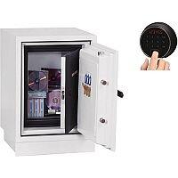 Phoenix Datacare DS2002F Size 2 Data Safe with Fingerprint Lock White 17L 90min Fire Protection