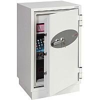 Phoenix Datacombi DS2502K Size 2 Data Safe with Key Lock White 84L 90min Fire Protection